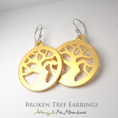 BrokenTreeEarrings-WithWire-yellow