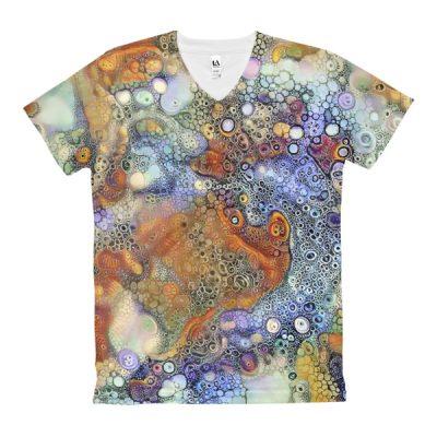 Lucid Bubbles Women's V-Neck T-Shirt